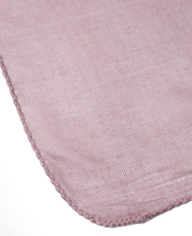 [約180cm×40cm]インド薄ラムナミ【ロング】 - 薄小豆色の写真4 - 端っこの様子です。