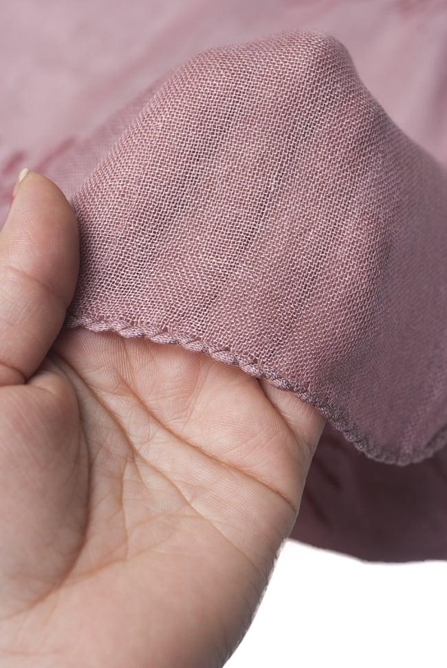 [約180cm×40cm]インド薄ラムナミ【ロング】 - 薄小豆色の写真5 - 透け感のある布地です。