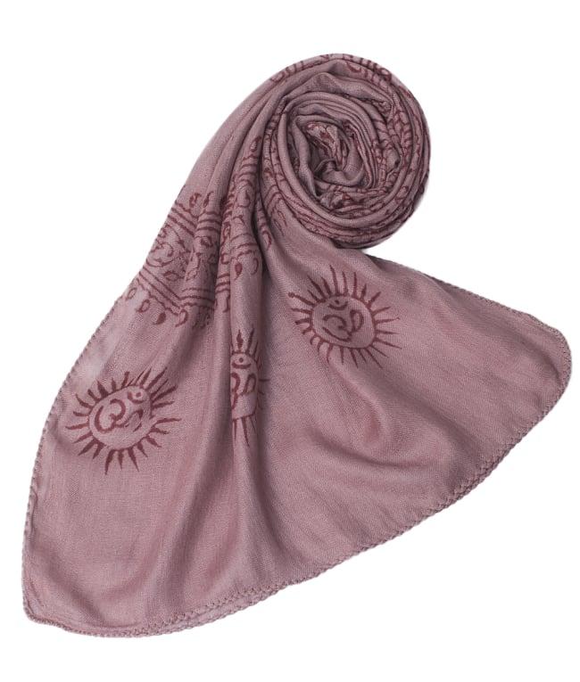 [約180cm×40cm]インド薄ラムナミ【ロング】 - 薄小豆色の写真6 - スカーフなどにぴったりの布地です。