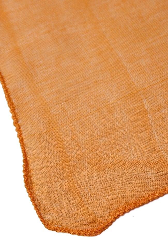(約180cm×40cm)インド薄ラムナミ(ロング) - 橙色 4 - 端っこの様子です。