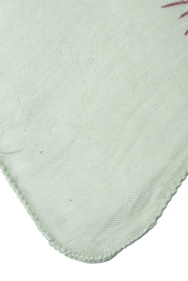 [約180cm×40cm]インド薄ラムナミ【ロング】 - 薄うぐいす色の写真4 - 端っこの様子です。