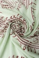 (約180cm×40cm)インド薄ラムナミ(ロング) - 薄うぐいす色