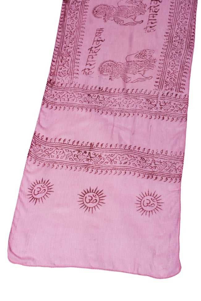 [約180cm×40cm]インド薄ラムナミ【ロング】 - ピンクの写真2 - 広げてみた様子です。