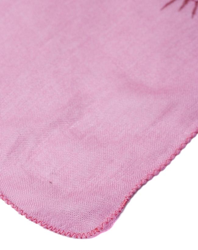 [約180cm×40cm]インド薄ラムナミ【ロング】 - ピンクの写真4 - 端っこの様子です。