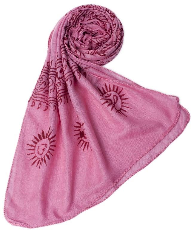 [約180cm×40cm]インド薄ラムナミ【ロング】 - ピンクの写真6 - スカーフなどにぴったりの布地です。