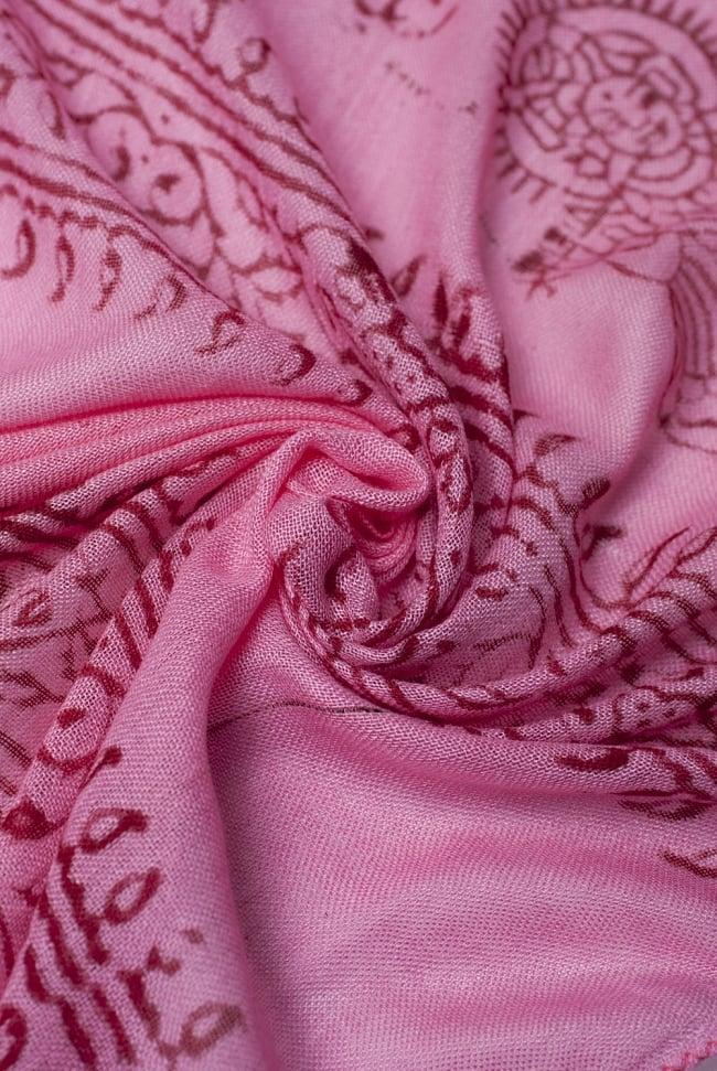 [約180cm×40cm]インド薄ラムナミ【ロング】 - ピンクの写真