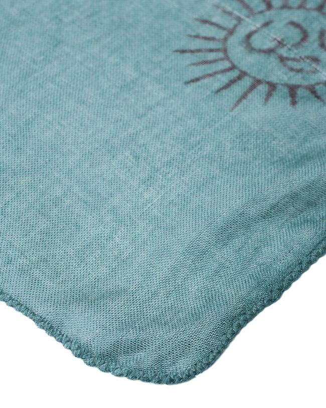 [約180cm×40cm]インド薄ラムナミ【ロング】 - 濃青緑の写真4 - 端っこの様子です。