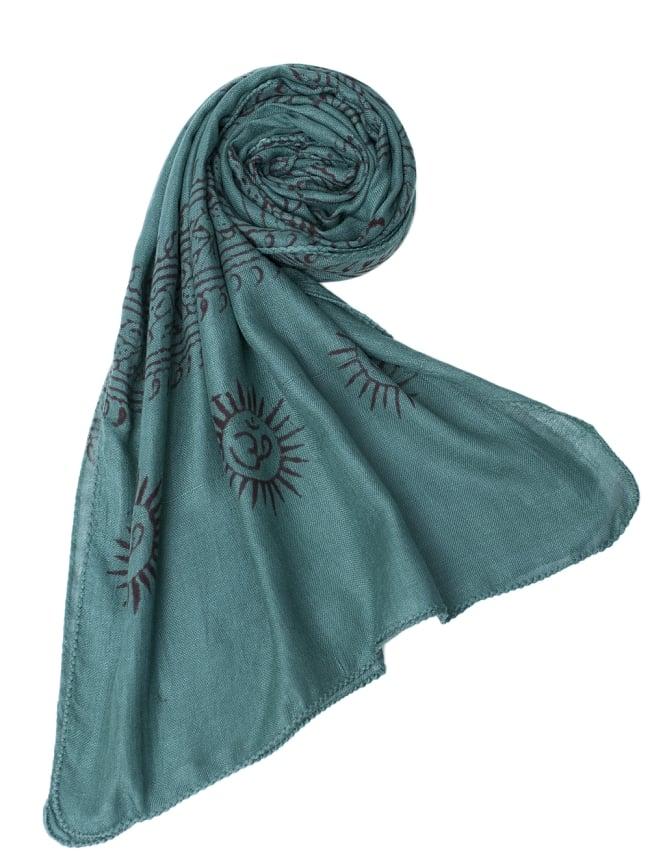 [約180cm×40cm]インド薄ラムナミ【ロング】 - 濃青緑の写真6 - スカーフなどにぴったりの布地です。