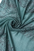 (約180cm×40cm)インド薄ラムナミ(ロング) - 濃青緑
