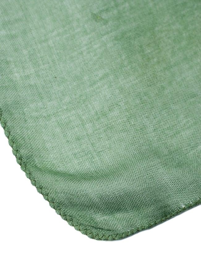 [約180cm×40cm]インド薄ラムナミ【ロング】 - 緑の写真4 - 端っこの様子です。
