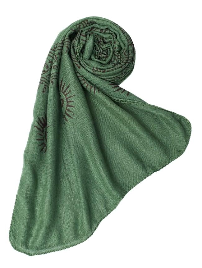 [約180cm×40cm]インド薄ラムナミ【ロング】 - 緑の写真6 - スカーフなどにぴったりの布地です。