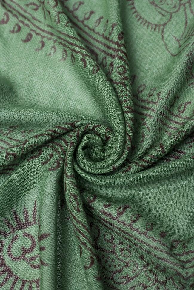 [約180cm×40cm]インド薄ラムナミ【ロング】 - 緑の写真