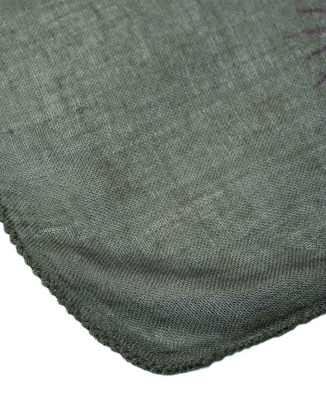 [約180cm×40cm]インド薄ラムナミ【ロング】 - ダークグリーンの写真4 - 端っこの様子です。
