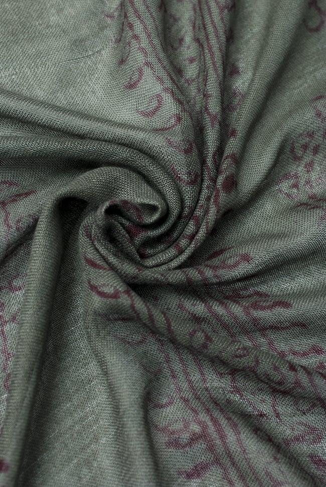 [約180cm×40cm]インド薄ラムナミ【ロング】 - ダークグリーンの写真