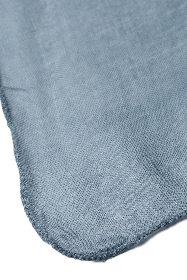 [約180cm×40cm]インド薄ラムナミ【ロング】 - 青灰色の写真4 - 端っこの様子です。
