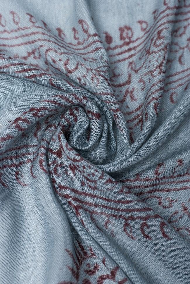 [約180cm×40cm]インド薄ラムナミ【ロング】 - 青灰色の写真