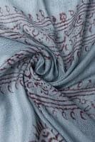 (約180cm×40cm)インド薄ラムナミ(ロング) - 青灰色