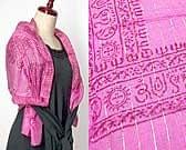 [130cm×60cm]金糸入りインド薄ラムナミ【小】 - ピンク