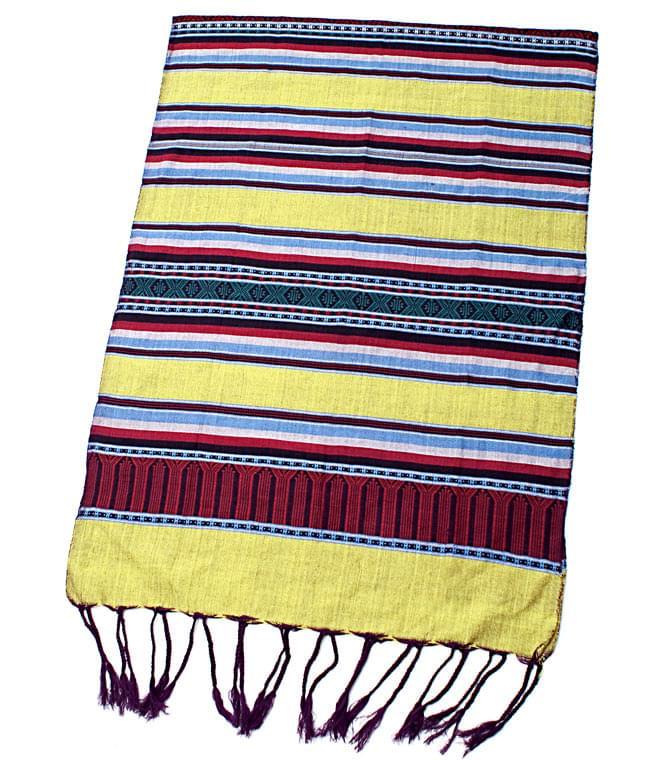 ベトナム ターイ族の伝統手織りスカーフ・デコレーション布の写真