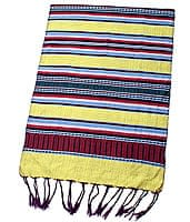 ベトナム ターイ族の伝統手織りスカーフ・デコレーション布