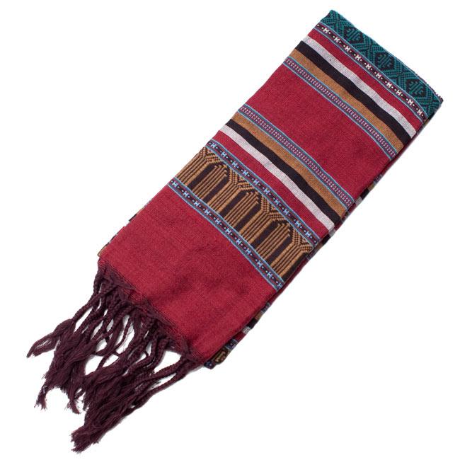 ベトナム ターイ族の伝統手織りスカーフ・デコレーション布 10 - 【選択 - E】は、こちらのような模様になります。