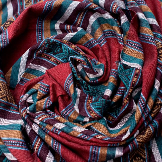ベトナム ターイ族の伝統手織りスカーフ・デコレーション布 3 - 色合いもとっても綺麗です。