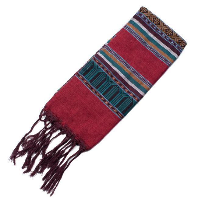 ベトナム ターイ族の伝統手織りスカーフ・デコレーション布 6 - 【選択 - A】は、こちらのような模様になります。