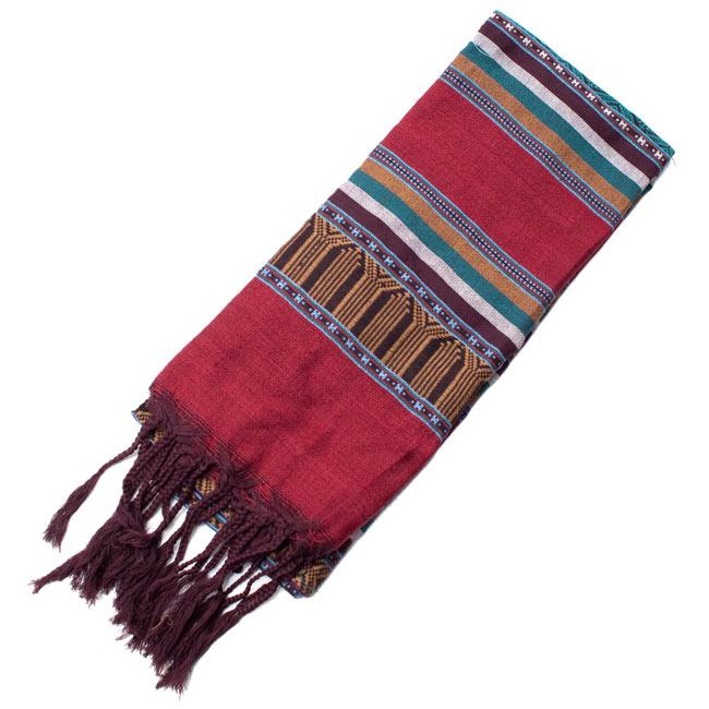 ベトナム ターイ族の伝統手織りスカーフ・デコレーション布の写真7 - 【選択 - B】は、こちらのような模様になります。
