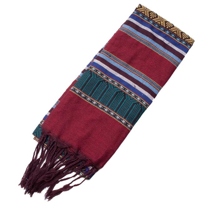 ベトナム ターイ族の伝統手織りスカーフ・デコレーション布の写真8 - 【選択 - C】は、こちらのような模様になります。