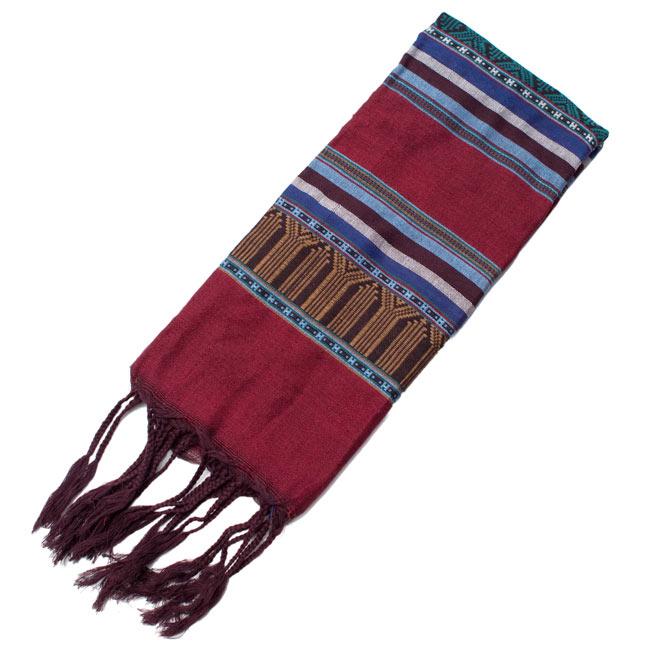 ベトナム ターイ族の伝統手織りスカーフ・デコレーション布 9 - 【選択 - D】は、こちらのような模様になります。