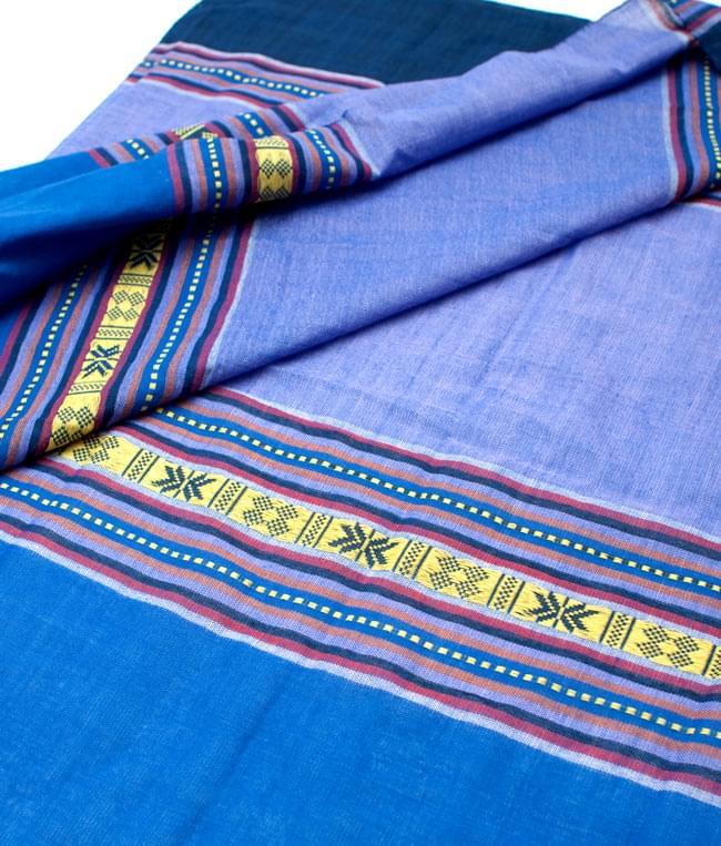ベトナム ターイ族の伝統手織りスカーフ・デコレーション布(切りっぱなし)の写真2 - 拡大写真です。丁寧に織られています。