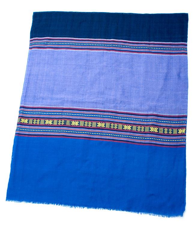 ベトナム ターイ族の伝統手織りスカーフ・デコレーション布(切りっぱなし)の写真