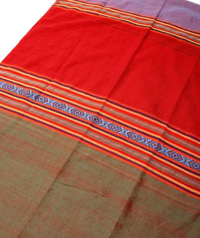 ベトナム ターイ族の伝統手織りスカーフ・デコレーション布(切りっぱなし)の写真6 - 【選択 - A】は、こちらのような模様になります。