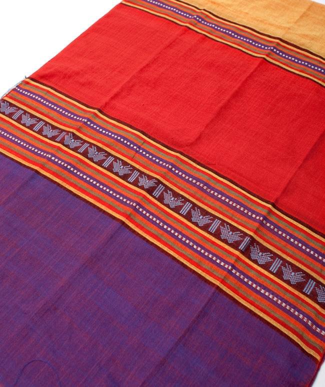 ベトナム ターイ族の伝統手織りスカーフ・デコレーション布(切りっぱなし)の写真7 - 【選択 - B】は、こちらのような模様になります。