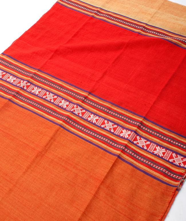 ベトナム ターイ族の伝統手織りスカーフ・デコレーション布(切りっぱなし)の写真9 - 【選択 - D】は、こちらのような模様になります。