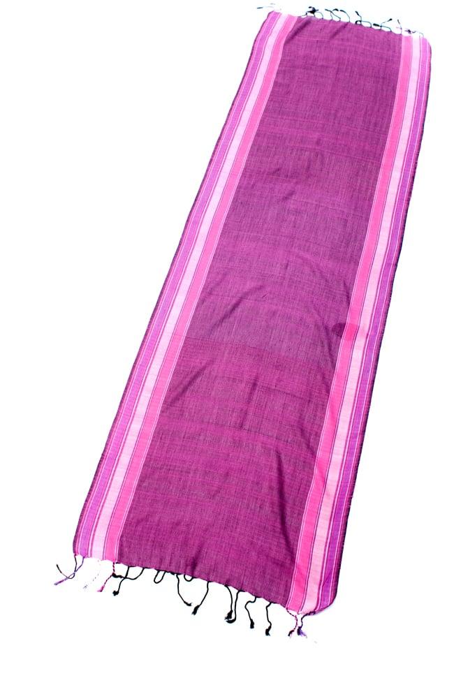 〔170cm×53cm〕ボーダーストール- ピンク×紫系の写真2 - 全体写真です
