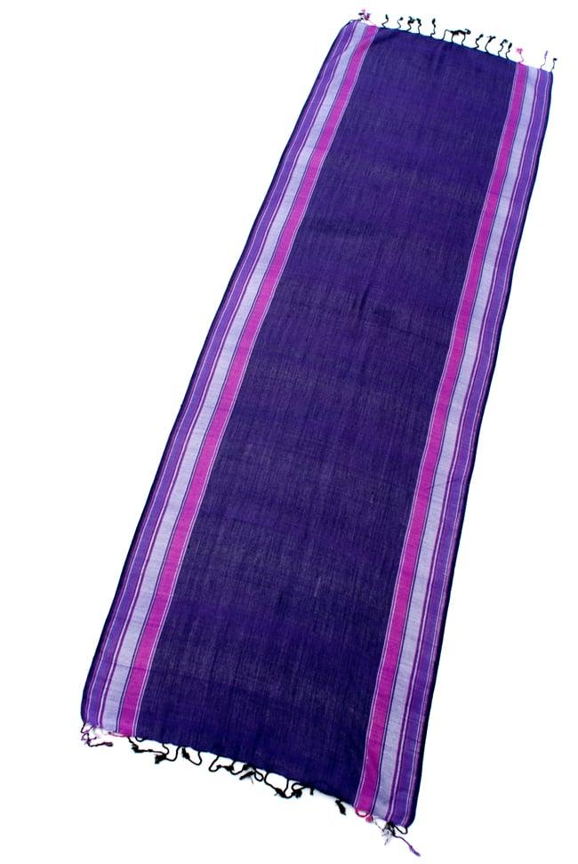 〔170cm×53cm〕ボーダーストール- 紫×ピンク系の写真2 - 全体写真です