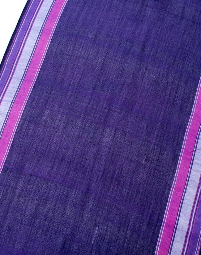 〔170cm×53cm〕ボーダーストール- 紫×ピンク系の写真3 - シンプルで飽きの来ないデザインです