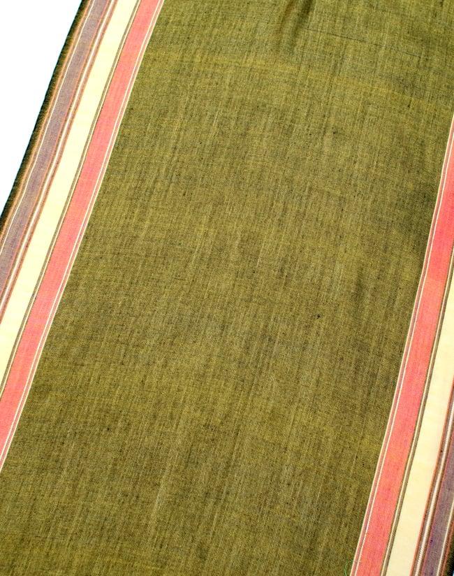 〔170cm×53cm〕ボーダーストール- 緑黄色×ピンク×黄色×紫系の写真3 - シンプルで飽きの来ないデザインです
