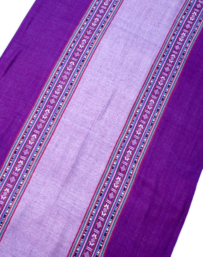 〔173cm×53cm〕ボーダーストール- 薄紫×紫系の写真3 - シンプルで飽きの来ないデザインです