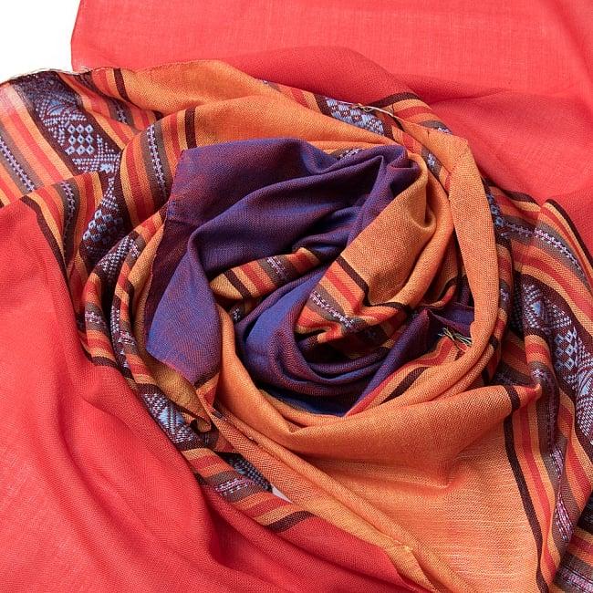〔暖色系アソート〕ベトナム ターイ族の伝統手織りスカーフ・デコレーション布(切りっぱなし) 3 - 色合いもとっても綺麗です。