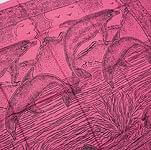[190cm×100cm]ガンジス川に泳ぐカワイルカ - ピンク