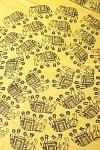 [大サイズ 100cmx210cm]インドのゾウたくさんルンギー - 黄色