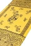 [100cmx200cm]インドの大きなゾウさんルンギー - 黄色