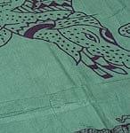 [100cmx200cm]インドの大きなゾウさんルンギー - グリーン
