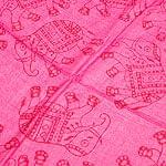 [中サイズ 160cmx90cm]インドの大きなゾウさんルンギー B - ピンク