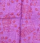 [中サイズ 160cmx90cm]インドの大きなゾウさんルンギー B - 紫