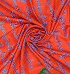 (190cm×100cm)チベット風ヴァジュラと龍の大きなストール - オレンジ