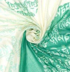 (160cm×70cm)ヒストリーブッダのファンシーストール - エメラルドグリーン