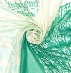 (160cm×70cm)ヒストリーブッダのファンシーストール - エメラルドグリーンの商品写真